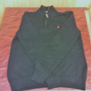 Black Polo Ralph Lauren Sweater Qtr Zip 100 Cotton